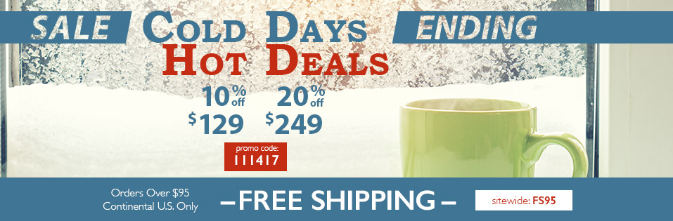 Sale Ending Cold Days, Hot Deals at Van Dykes