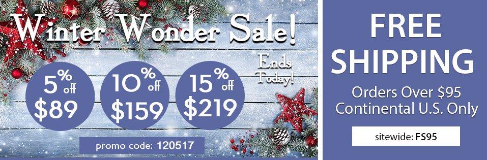 Last Day Site Wide Winter Sale!