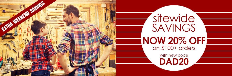 Sitewide Savings 20% Off $100+ Orders
