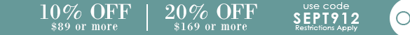 10% Off $89, 20% Off $169 with code SEPT912