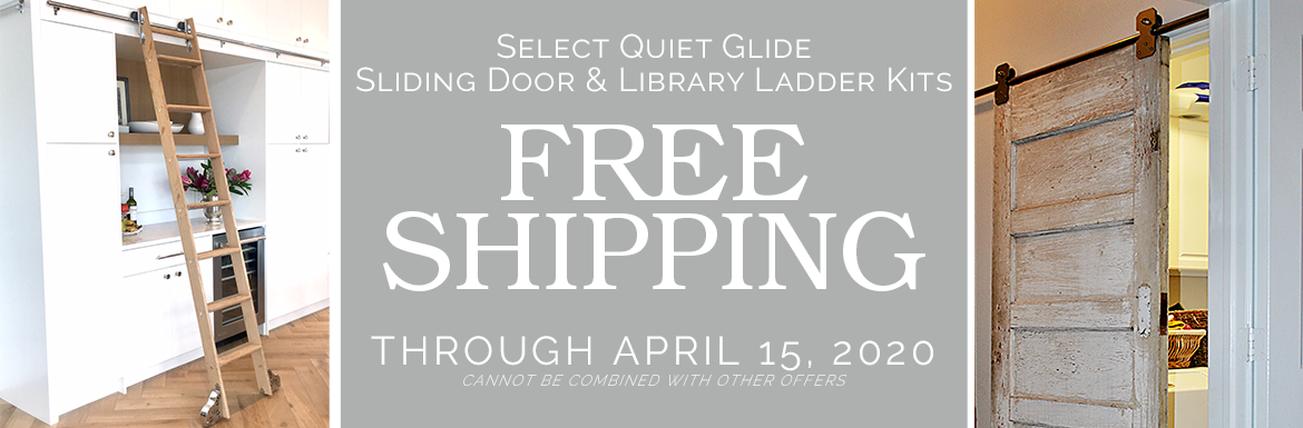 Free Shipping on Select Quiet Glide Rolling Door and Library Ladder Kits