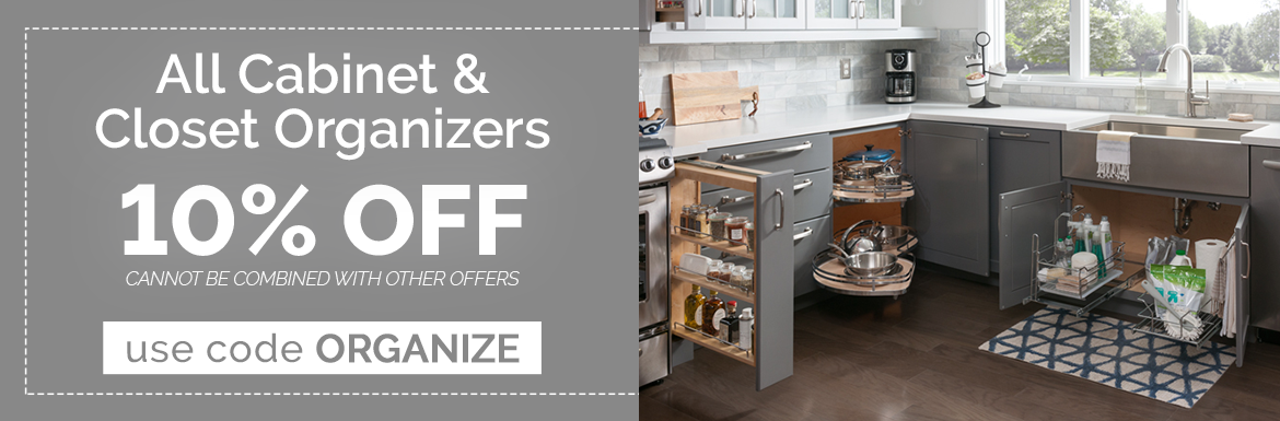 10% Off Select Cabinet Organizers with code ORGANIZE