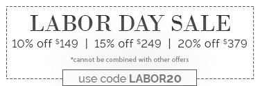 Labor Day Sale with code LABOR20