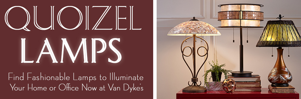Shop Quoizel Lighting at Van Dyke's!