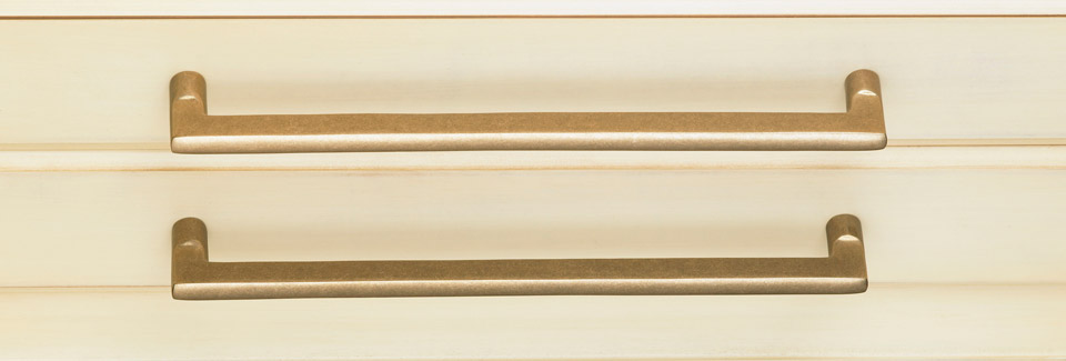 Brass Pulls - Brushed Antique Brass Cabinet Hardware Bar Cabinet
