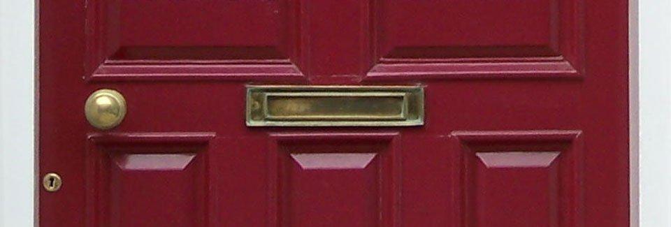 Door Slot & Rectangular Locking Recessed Brushed Stainless Steel ...