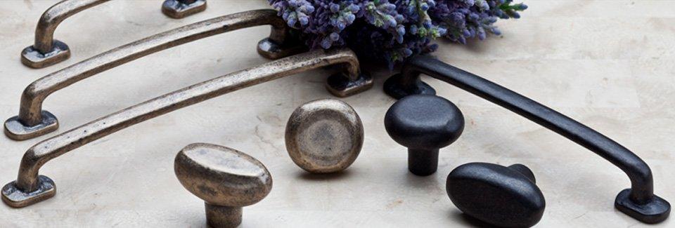 Charming Iron Pulls Rustic Cast Drawer