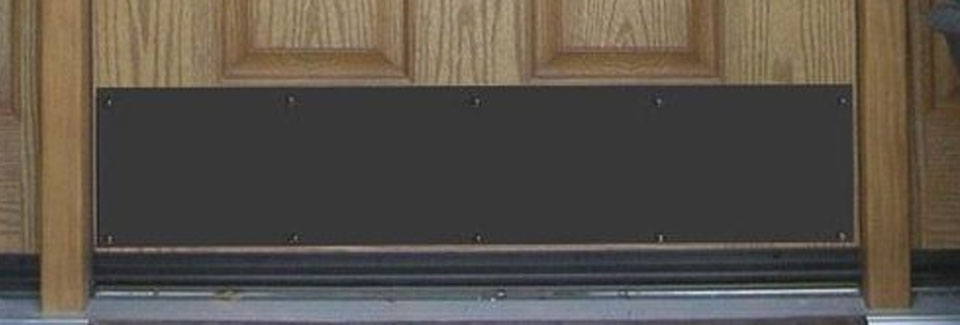 Door Kickplates Accessorize Your Front Door While Increasing Its Durability With A Kick Plate