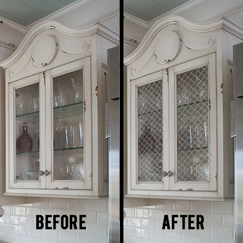 How To Put Glass In Kitchen Cabinet Doors: How To Install Decorative Wire Grilles