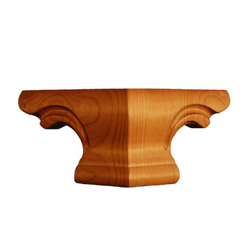 RED OAK 4 SQR. PEDESTAL FOOT