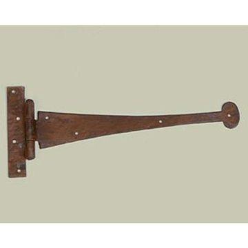 Restorers 7 1/2 Inch Round End Iron Strap Hinge