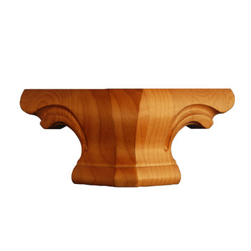 SOFT MAPLE 4 ROUND PEDESTAL FOOT