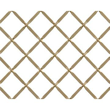 Kent Design 332P 3/4 Round Press Crimp Wire Grille - 18 x 48