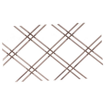 Kent Design 114 1/4F 1 Double Round Flat Crimp Wire Grille - 36 x 48
