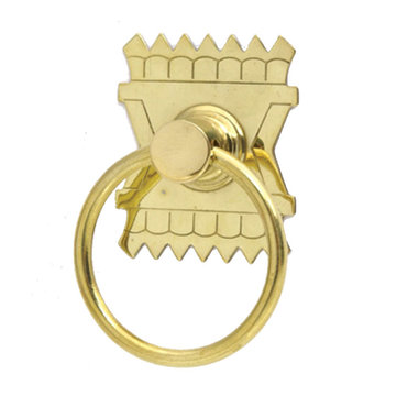 Restorers Classic Eastlake Ring Pull with Picket Design