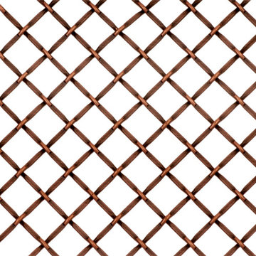 Kent Design 1214F 1/2 Round Flat Crimp Wire Grille - 36 x 48