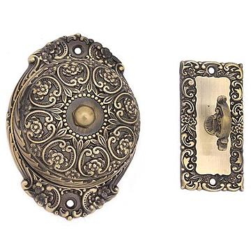 idh by St. Simons Victorian Ornate Twist Doorbell