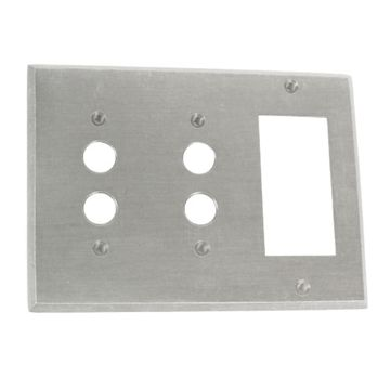 Classic Accents Double Pushbutton With Gfi Outlet