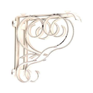 WHITE HAND FORGED IRON DOUBLE BRACKET