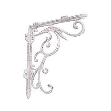 Restorers 10 Inch Iron Shelf Bracket WHITE