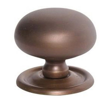Restorers 1 1/2 Inch Round Brass Knob with Removable Backplate