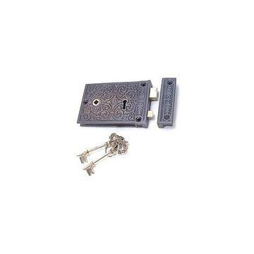 Restorers Brass Ornate Rim Lock