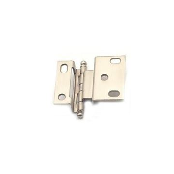 Classic Brass 3/8 Inch Offset Hinge With Ball Finial