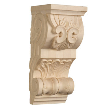 HAND-CARVED CHERRY CORBEL
