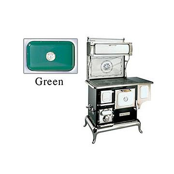 GREEN SWEETHEART WOODBURN COOK STOVE W/RSVOR*DS PPD