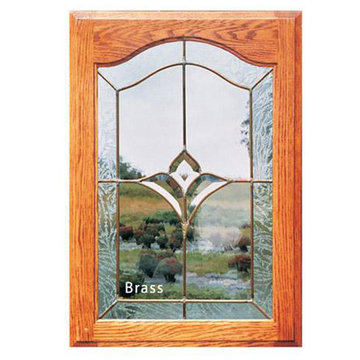 BRASS LEADED/#020 CLEAR BEVELED GLASS PANEL  *DS