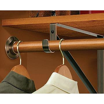 Oil Rubbed Bronze Closet Shelf & Rod Bracket