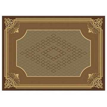 74X111 STAFFORD CHOCO- LATE AREA RUG *DS*