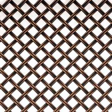 Kent Design DK08 3/8 Flat Fluted Single Crimped Wire Grille 36 x 48
