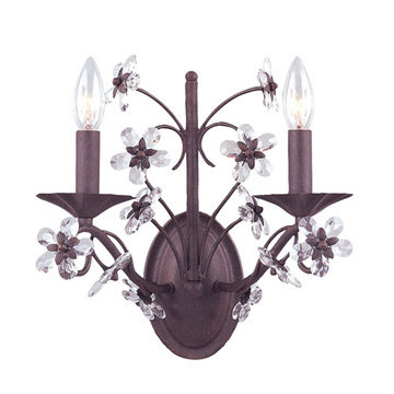 Crystorama Abbie Collection 2 Light Wall Sconce