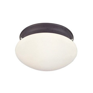 Livex Lighting Home Basics 1 Light Opal Glass Ceiling Light