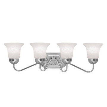 Livex Lighting Home Basics 4 Light Vanity Light With Short Back Plate