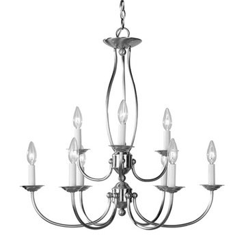 Livex Lighting Home Basics 9 Light Candelabra Chandelier
