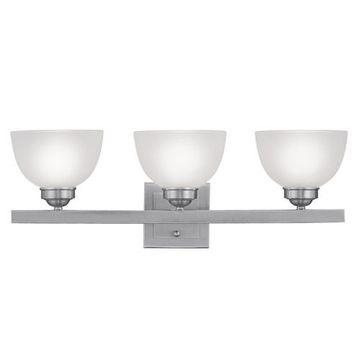 Livex Lighting Somerset 3 Light Vanity Light With Square Back Plate