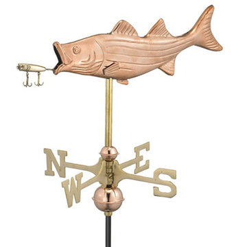 Good Directions Bass With Lure Cottage Or Garden Weathervane