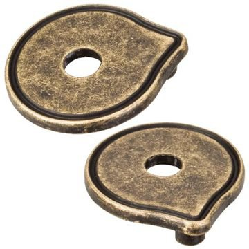 Hardware Resources Breman Cabinet Pull Escutcheon - Pair