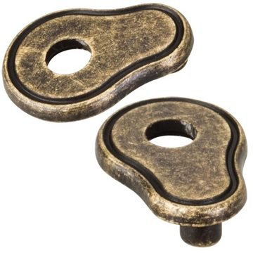Hardware Resources Ornate Cabinet Pull Escutcheon - Pair