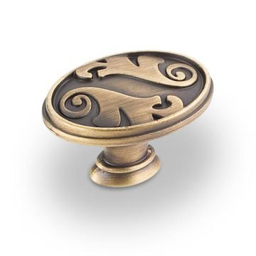 Hardware Resources Regency Floral Oval Cabinet Knob