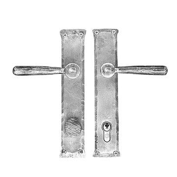 Acorn Stainless Steel Double Cylinder Mortise Exterior Entry Set With Lever And Narrow Back Set