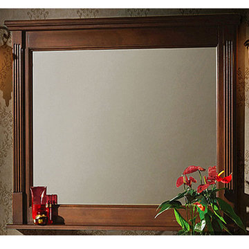 Legion Furniture 48 Inch Light Walnut Allison Mirror