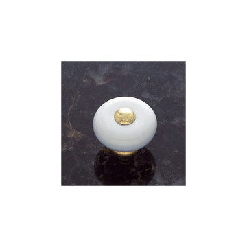 Jvj Hardware Vintage Collection Round Porcelain Mushroom Knob
