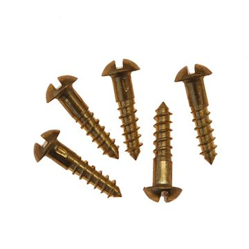 Restorers Classic #5 X 5/8 Inch Slotted Round Head Screws - Pack Of 20