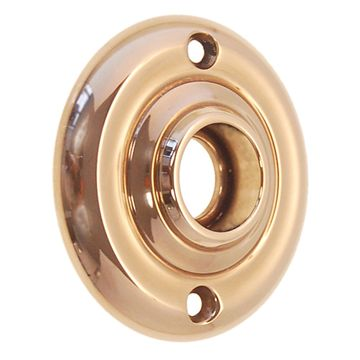 Restorers Classic 2 1/4 Inch Indented Line Forged Brass Rosette