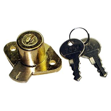 Restorers Classic Cylinder Lock With 2 Keys For Desks Or File Cabinets