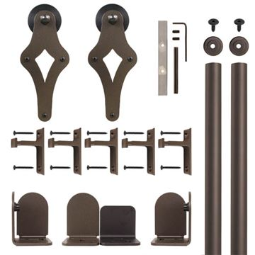 Quiet Glide Palm-Leis Rolling Door Hardware Kit