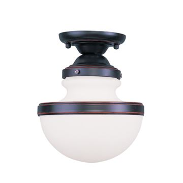 Livex Lighting Oldwick 8 Inch Flush Ceiling Light